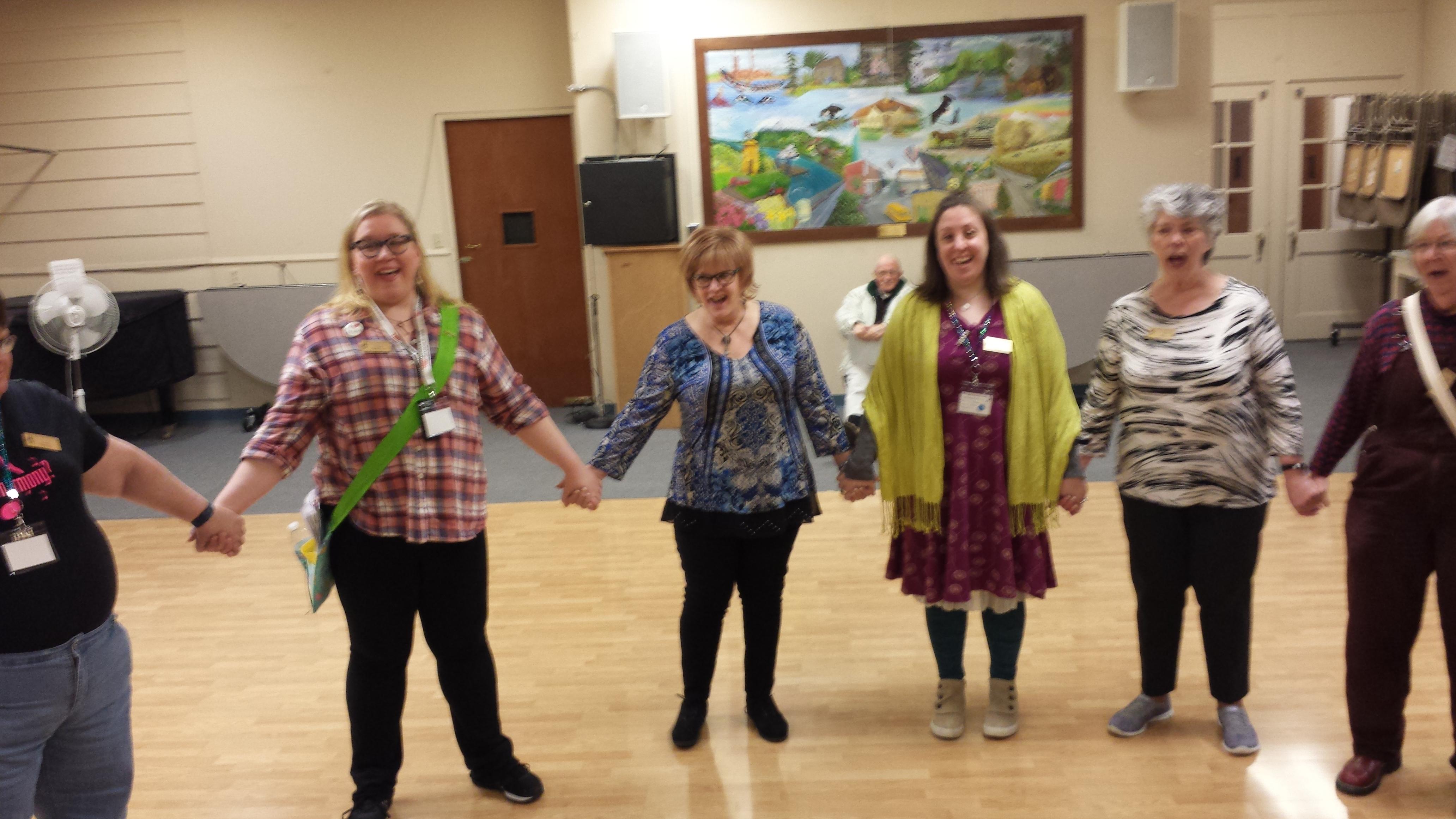 Fun at rehearsals!